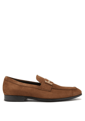 Tod's - T-logo Suede Penny Loafers - Mens - Tan