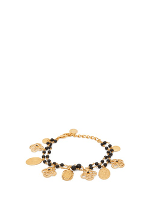 Dolce & Gabbana - Madonna Charm And Bead Bracelet - Womens - Gold
