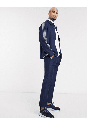 adidas golf ultimate 3 stripe trousers in navy