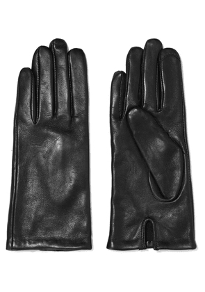 Iris & Ink Helen Leather Gloves Woman Black Size M/L