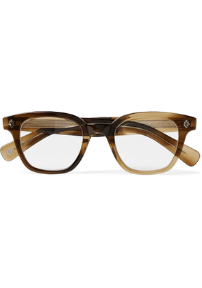 GARRETT LEIGHT CALIFORNIA OPTICAL - Naples Square-Frame Acetate Optical Glasses - Men - Brown