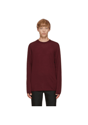 Comme des Garcons Homme Plus Burgundy Worsted Yarn Sweater