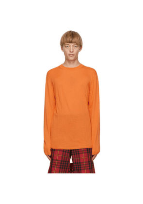 Comme des Garcons Homme Plus Orange Worsted Yarn Sweater