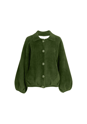 Wes Knitted Bomber Jacket - Palace Green