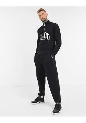Blood Brother stoke half-zip sweat in black