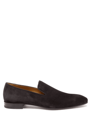 Christian Louboutin - Dandelion Suede Loafers - Mens - Black
