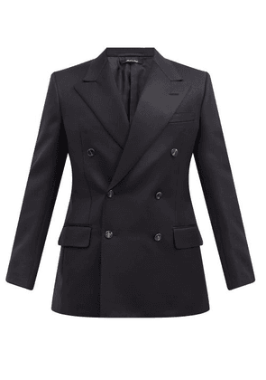 Dunhill - Double-breasted Peak-lapel Wool Jacket - Mens - Navy