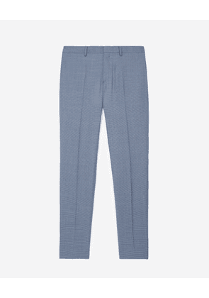 The Kooples - Light blue suit trousers with check motif - MEN