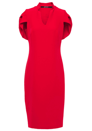 Badgley Mischka Cape-effect Stretch-crepe Dress Woman Red Size 2