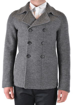 ARMANI COLLEZIONI MEN'S MCBI39257 GREY WOOL COAT