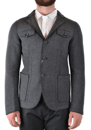 ARMANI COLLEZIONI MEN'S MCBI39259 GREY WOOL OUTERWEAR JACKET