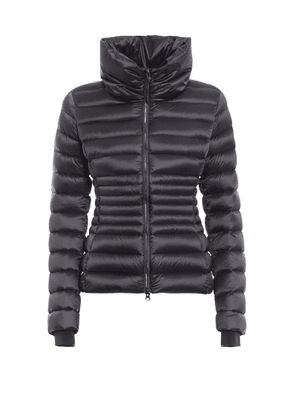 PLACE FUNNEL NECK DARK GREY PUFFER JACKET