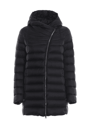 PLACE BLACK PUFFER HOODED SHORT COAT IN BLACK