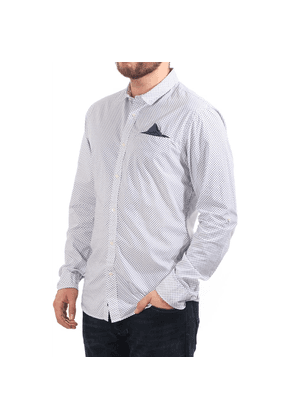 Scotch & Soda ls shirt with small square print and fixed pochet Si