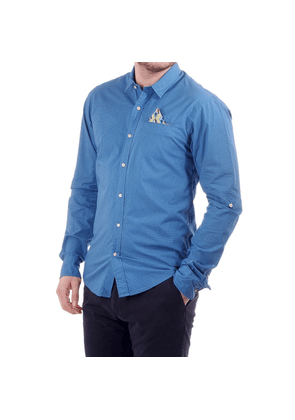 Scotch & Soda classic longsleeved shirt with allover pattern