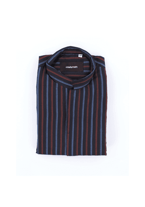 Costumein multicolor shirt with wide stripes in cotton