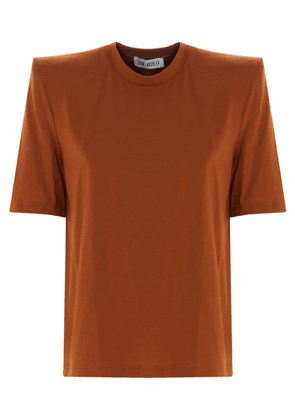 ATTICO WOMEN'S 202WCT04J001039 BROWN COTTON T-SHIRT