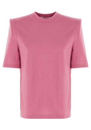 ATTICO WOMEN'S 202WCT04J001113 PINK COTTON T-SHIRT