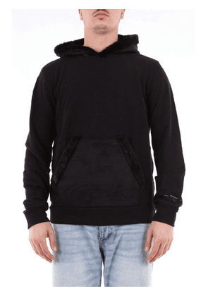 DANIELE ALESSANDRINI MEN'S M7090E6173906BLACK BLACK COTTON SWEATSHIRT