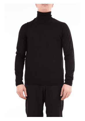 DANIELE ALESSANDRINI MEN'S FM55234U3906NERO BLACK WOOL SWEATER
