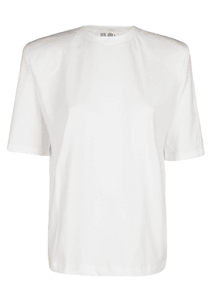 ATTICO WOMEN'S 202WCT04J001001 WHITE COTTON T-SHIRT