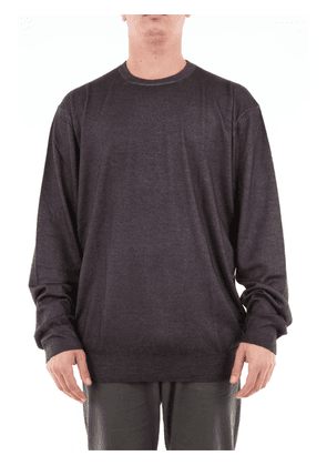 Cruciani solid color cashmere and silk blend sweater