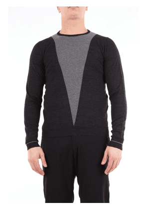 Daniele Alessandrini bicolor crew neck sweater