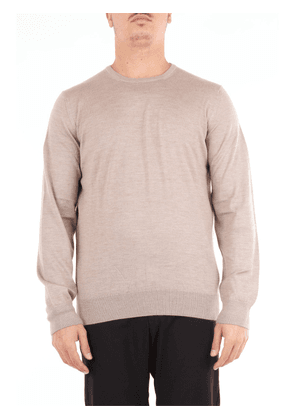 Beard sand-colored crew-neck sweater with long sleeves