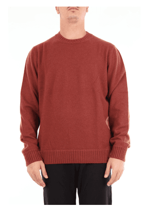 Beard brick-colored crew neck sweater with long sleeves