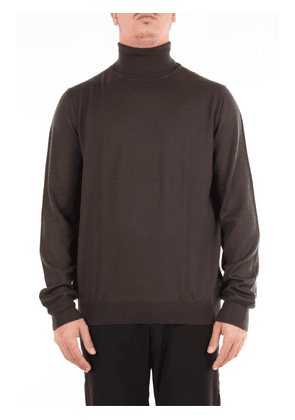 Military green turtleneck beard with long sleeves