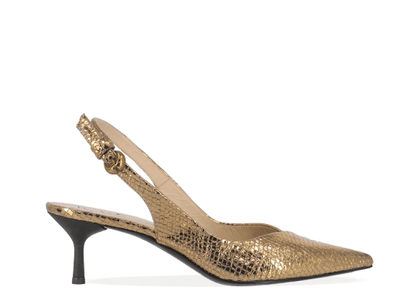 FABI WOMEN'S FD6203AGOLD GOLD LEATHER SANDALS