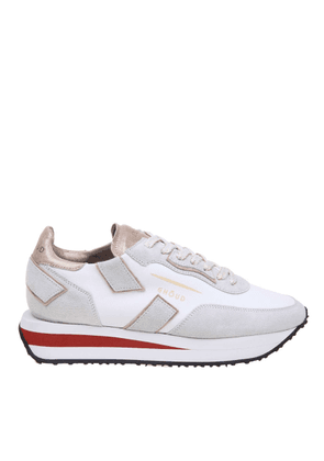 GHOUD WOMEN'S RXLWLL02 WHITE SUEDE SNEAKERS