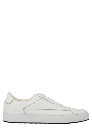 COMMON PROJECTS MEN'S 22700506 WHITE LEATHER SNEAKERS