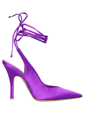 PURPLE VENUS SLINGBACK PUMPS