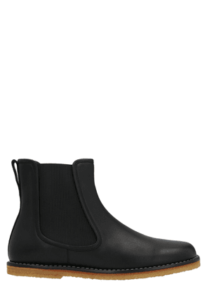 LOEWE MEN'S M816S05X011100 BLACK LEATHER ANKLE BOOTS
