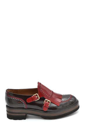 FRATELLI ROSSETTI WOMEN'S MCBI37165 BURGUNDY LEATHER LOAFERS