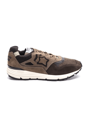 ATLANTIC STARS MEN'S POLARISDCCF11 BROWN LEATHER SNEAKERS