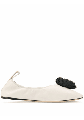 LOEWE WOMEN'S 453106011957 WHITE LEATHER FLATS