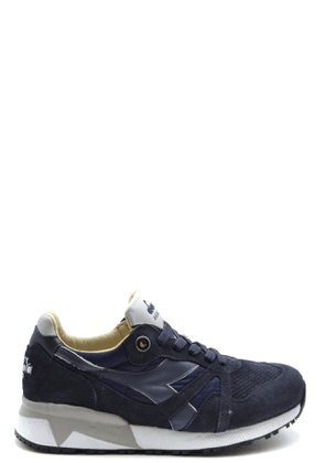DIADORA MEN'S MCBI38910 BLUE SUEDE SNEAKERS