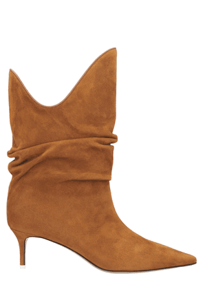 ATTICO WOMEN'S 201WS018L007046 BROWN SUEDE ANKLE BOOTS