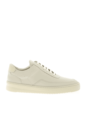 FILLING PIECES MEN'S 24526231855MEB WHITE LEATHER SNEAKERS