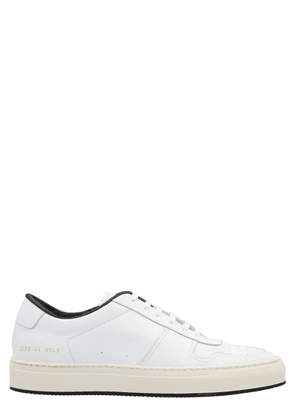 COMMON PROJECTS MEN'S 22500502 WHITE LEATHER SNEAKERS