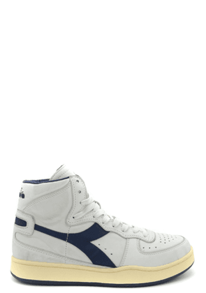 DIADORA WOMEN'S MCBI36920 WHITE LEATHER HI TOP SNEAKERS