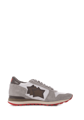 ATLANTIC STARS MEN'S ARGOBWNYRPSM GREY SUEDE SNEAKERS