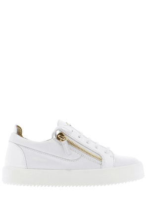 GIUSEPPE ZANOTTI DESIGN WOMEN'S RW70001012 WHITE LEATHER SNEAKERS