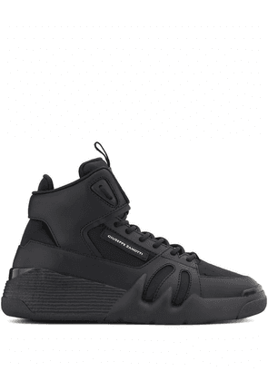 GIUSEPPE ZANOTTI DESIGN MEN'S RM00057001 BLACK LEATHER HI TOP SNEAKERS
