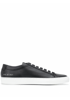 COMMON PROJECTS MEN'S 22537547 BLACK LEATHER SNEAKERS