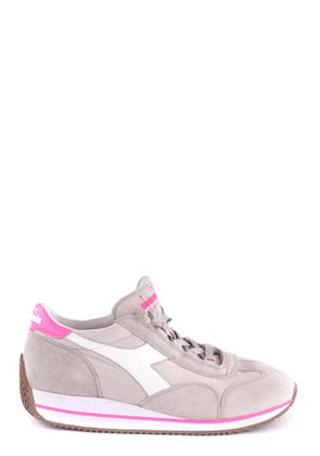 DIADORA WOMEN'S MCBI35576 GREY LEATHER SNEAKERS
