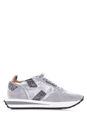 GHOUD WOMEN'S RXLWNL05SILVER GREY LEATHER SNEAKERS