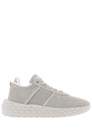 GIUSEPPE ZANOTTI DESIGN WOMEN'S RS00065001 GREY SYNTHETIC FIBERS SNEAKERS